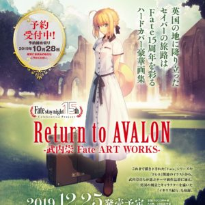 Fate15周年纪念插画集「Return to AVALON -武内崇Fate ART WORKS-」